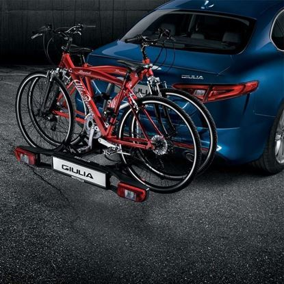 Picture of Giulia BIKE CARRIER FITTED ON TOW BAR