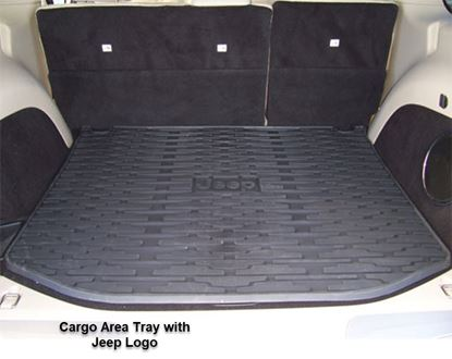 Picture of Grand cherokee -Cargo Area Tray with Jeep Logo