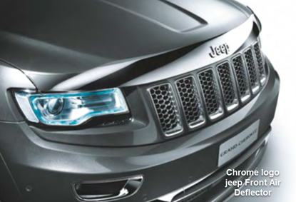 Picture of Grand cherokee -Chrome logo jeep Front Air Deflector